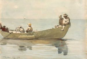 Winslow Homer, Seven Boys in a Dory (detail), 1873; watercolor on paper, Gift of Phyllis and Jamie Wyeth, 1999.22