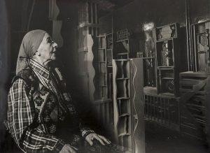 Pedro E. Guerrero, Louise Nevelson Gazes at her Artwork in New York 1978