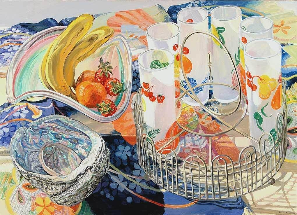 Janet Fish, Fruit Juice Glasses, 2005, Oil on canvas, Gift of the Alex Katz Foundation, 2007.4