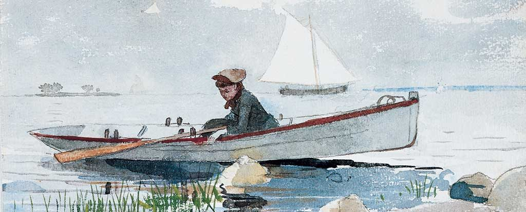 Winslow Homer, A Girl in a Punt, circa 1880