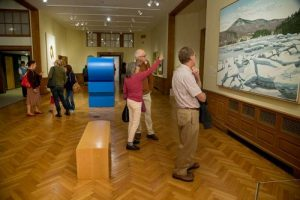 A First Friday event at the Farnsworth Art Museum