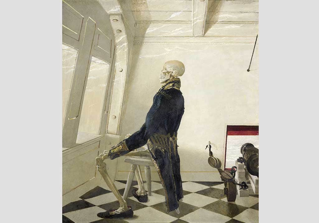 Andrew Wyeth, Dr. Syn, 1981 tempera on panel. The Andrew and Betsy Wyeth Collection © 2017 Andrew Wyeth/Artists Rights Society (ARS)