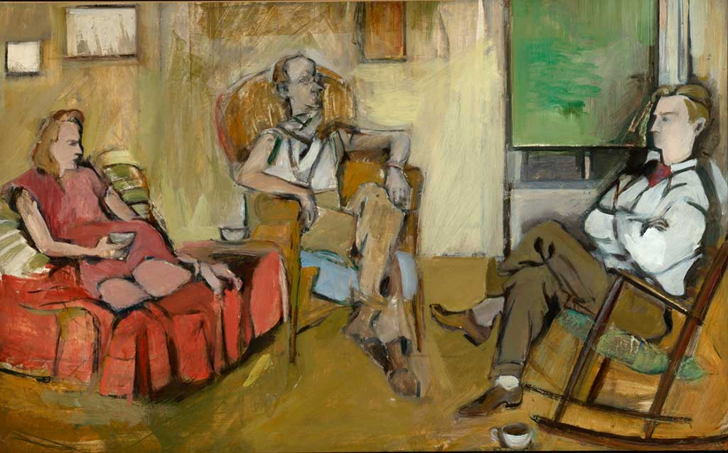 Elaine de Kooning (American, 1918-1989) The Living Room, 1948 Oil on paper laid down on canvas 24 x 36 inches Gift of the Alex Katz Foundation, 2011.4