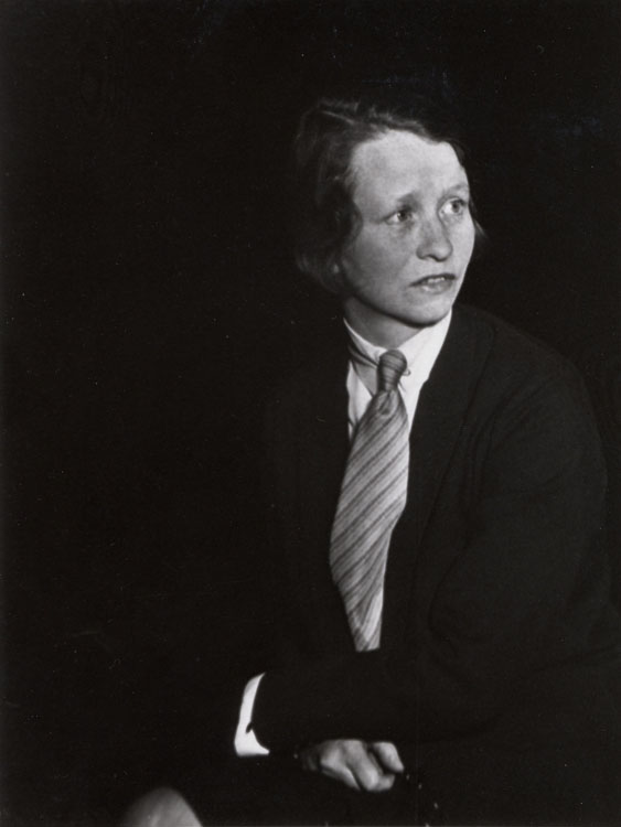 Berenice Abbot, Edna St. Vincent Millay, 1930, Gelatin Silver print, Collection of the Farnsworth Art Museum, Gift of Mr. Ronald A. Kurtz, 1986.27.1