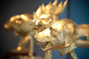 Ai Weiwei's Circle of Animals/Zodiac Heads: Gold at the Longhouse Reserve in East Hampton, NY