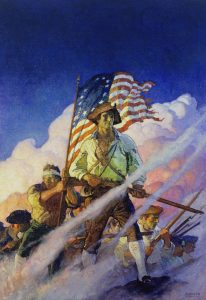 N.C. Wyeth, The Old Continentals, 1922, Oil on canvas, 40 x 28 1/8 inches, Collection of The Hill School, Pottstown, PA