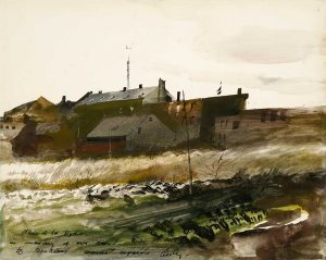 Andrew Wyeth, Rockland Harbor, 1954, Watercolor on paper, 10 1/2 x 13 5/8 inches, Bequest of Edward Hyde Cox, 1998.17.3, © 2018 Andrew Wyeth/Artists Rights Society (ARS)