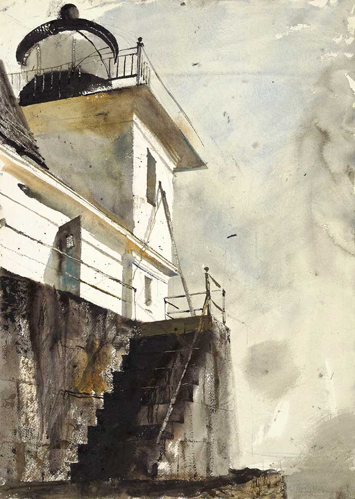 Andrew Wyeth, Rockland Light, 1961, watercolor on paper. The Andrew and Betsy Wyeth Collection © 2018 Andrew Wyeth/Artists Rights Society (ARS)