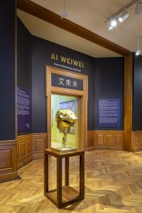 Ai Weiwei, Circle of Animals/Zodiac Heads: Gold at the Farnsworth Art Museum. Photo by Sarah Szwajkos Photography | Damn Rabbit Studios