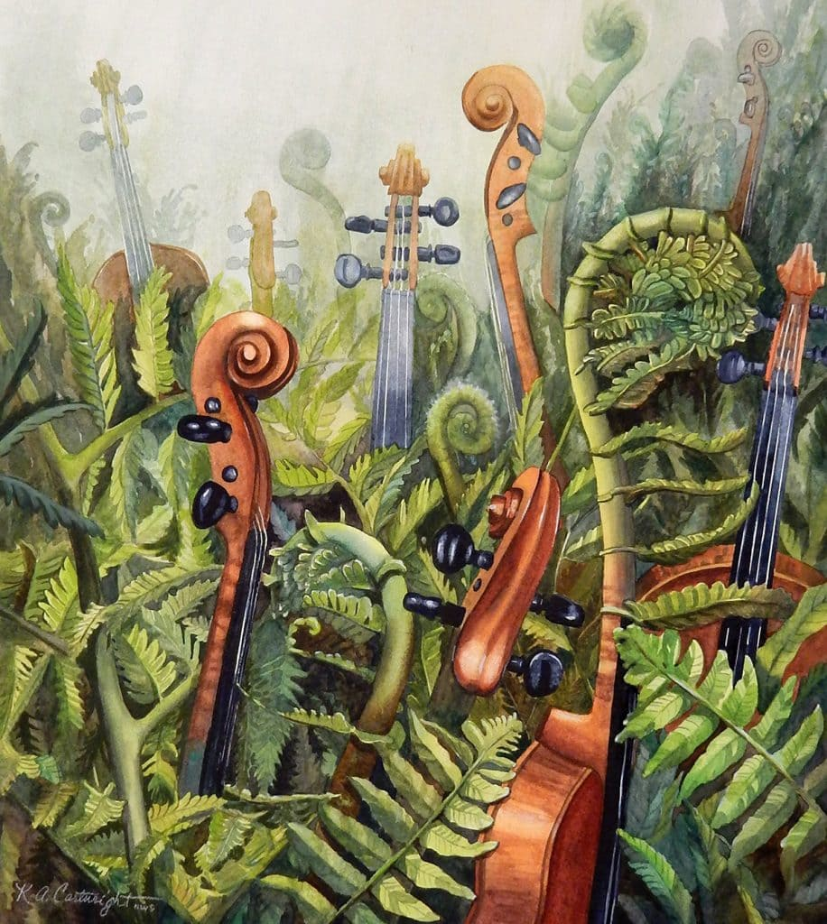 Fiddleheads by Katharine Cartwright