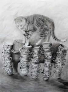 Pam Cabanas, Limited Options, charcoal