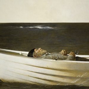 Andrew Wyeth, Adrift, 1982 watercolor on paper. The Andrew and Betsy Wyeth Collection