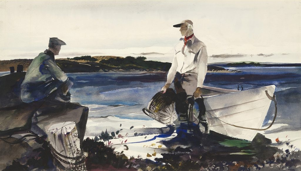 Andrew Wyeth, Walt and Henry, 1942 watercolor on paper. The Andrew and Betsy Wyeth Collection