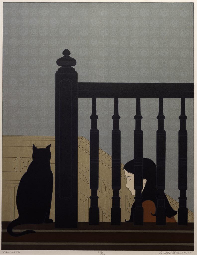Will Barnet, Bannister, 1981, Color lithograph, Gift of the Pine Tree Shop and Bayview Gallery, Christopher and Elisabeth Rector, 1991
