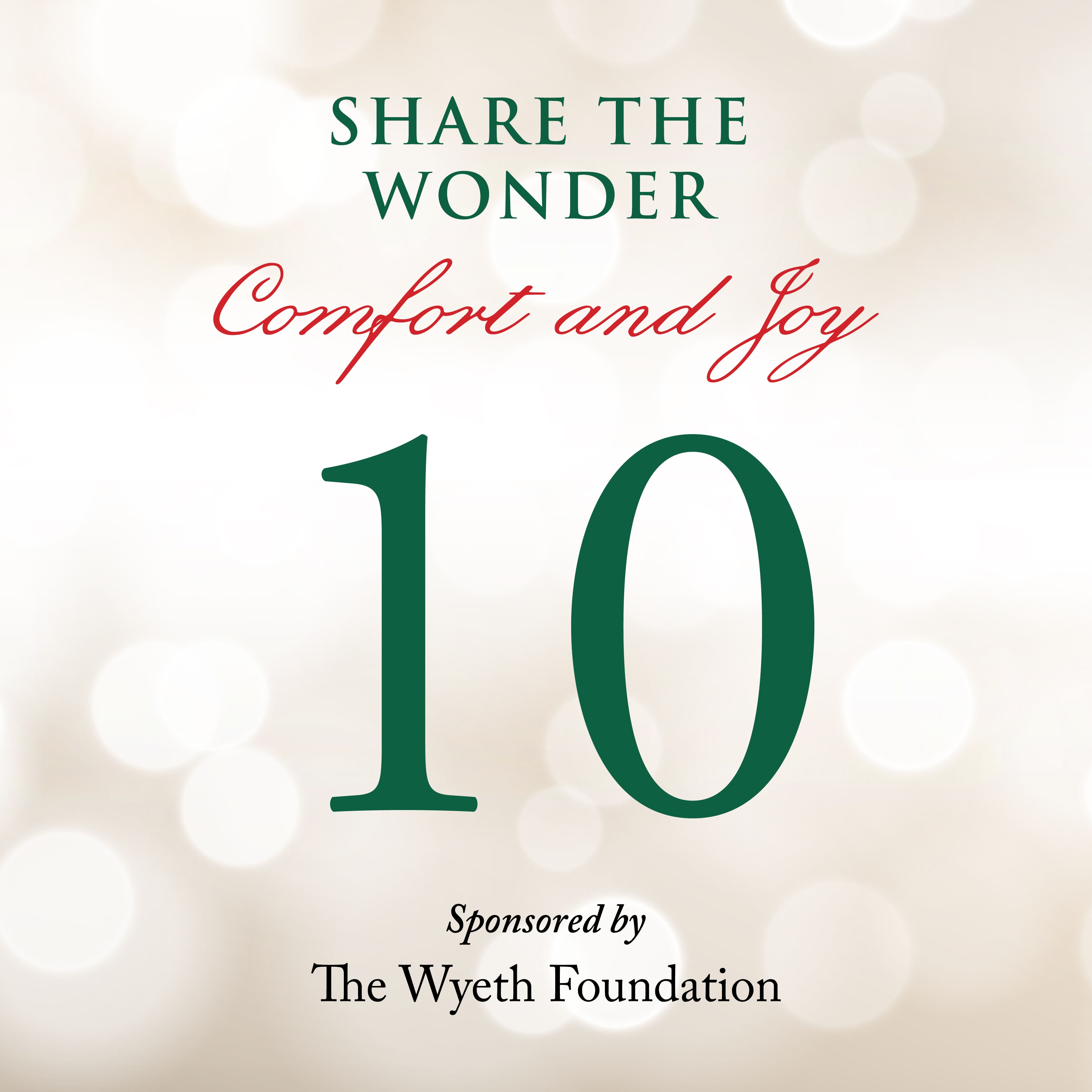 Day 10 of Share the Wonder: December 7