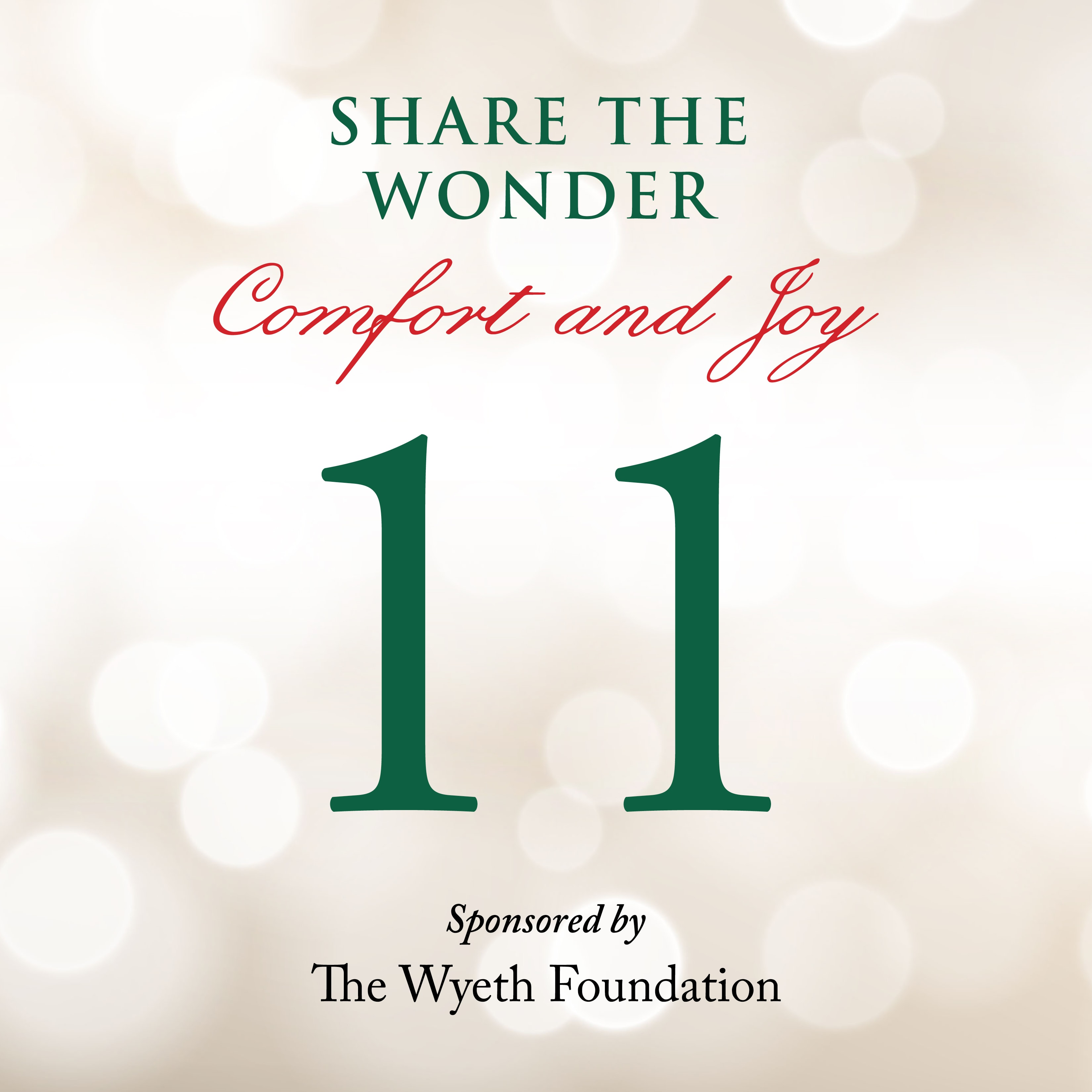 Day 11 of Share the Wonder: December 8