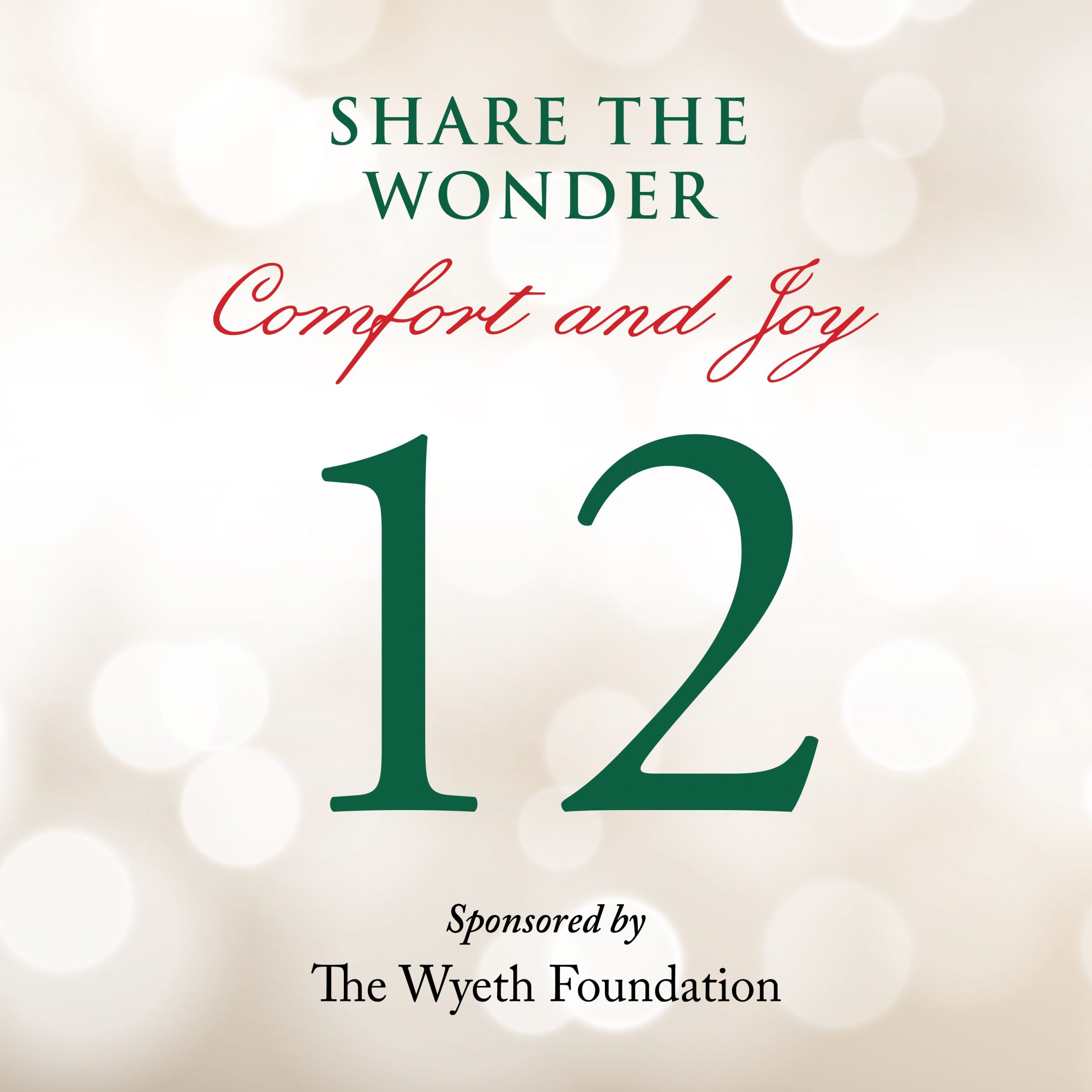 Day 12 of Share the Wonder: December 9