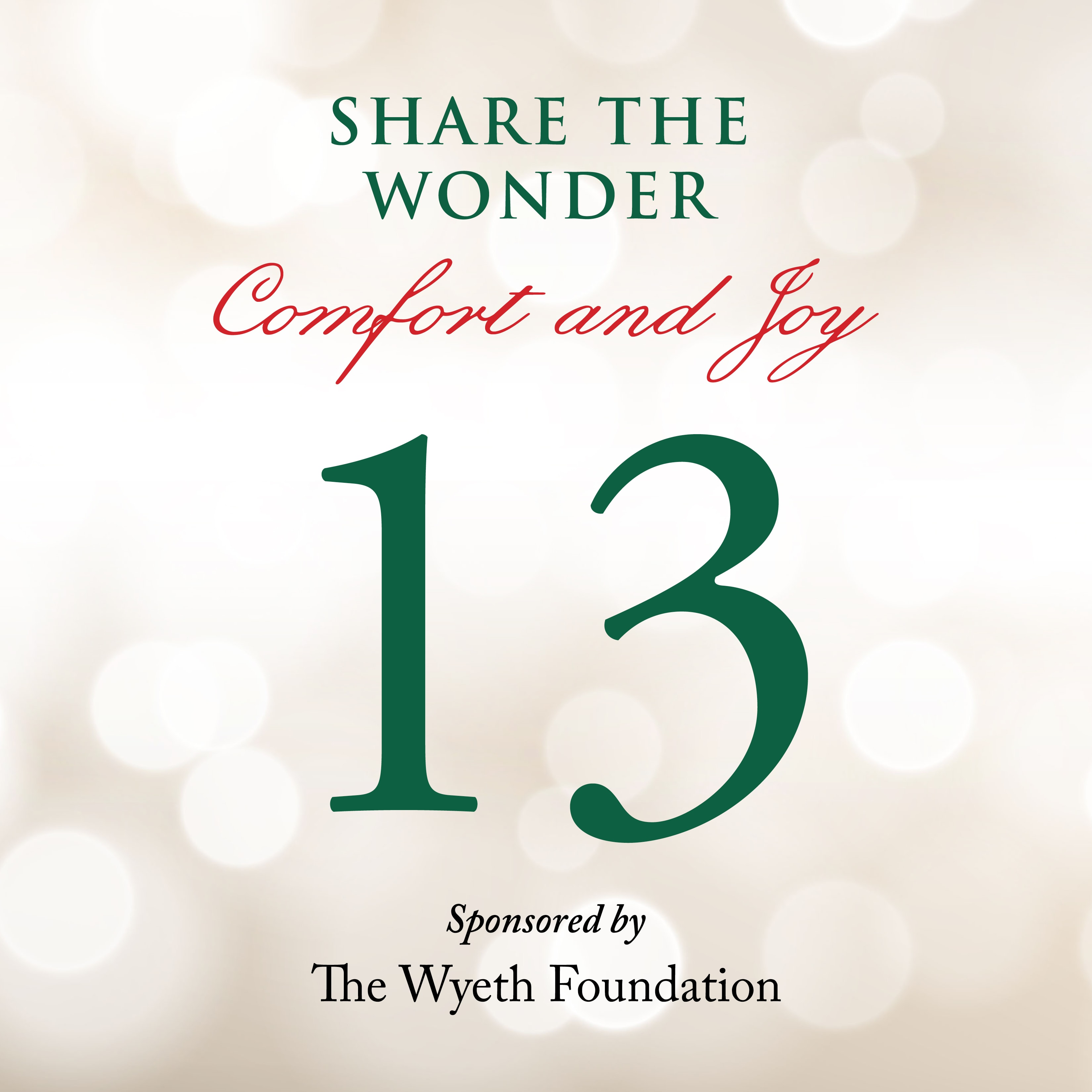 Day 13 of Share the Wonder: December 10