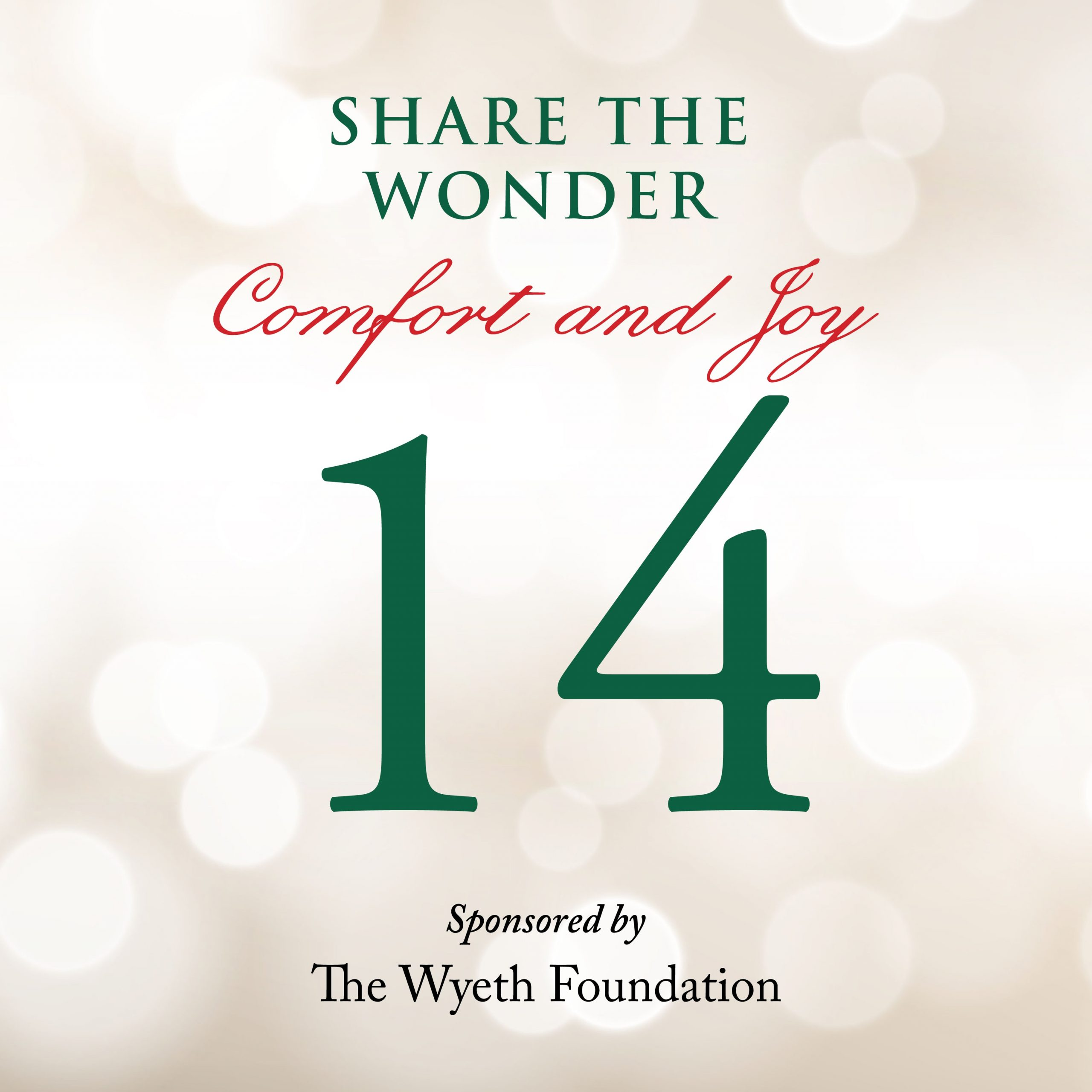 Day 14 of Share the Wonder: December 11