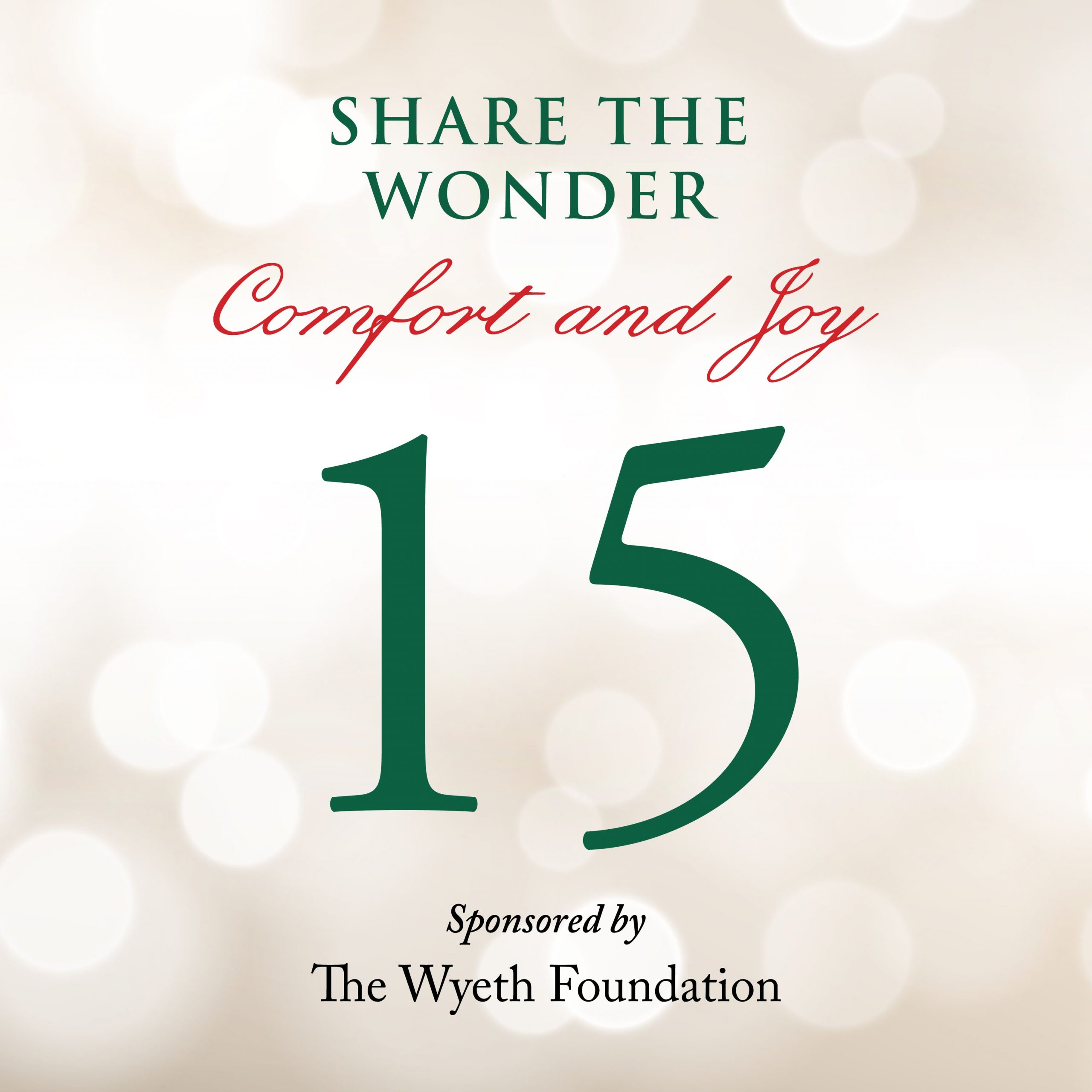 Day 15 of Share the Wonder: December 12
