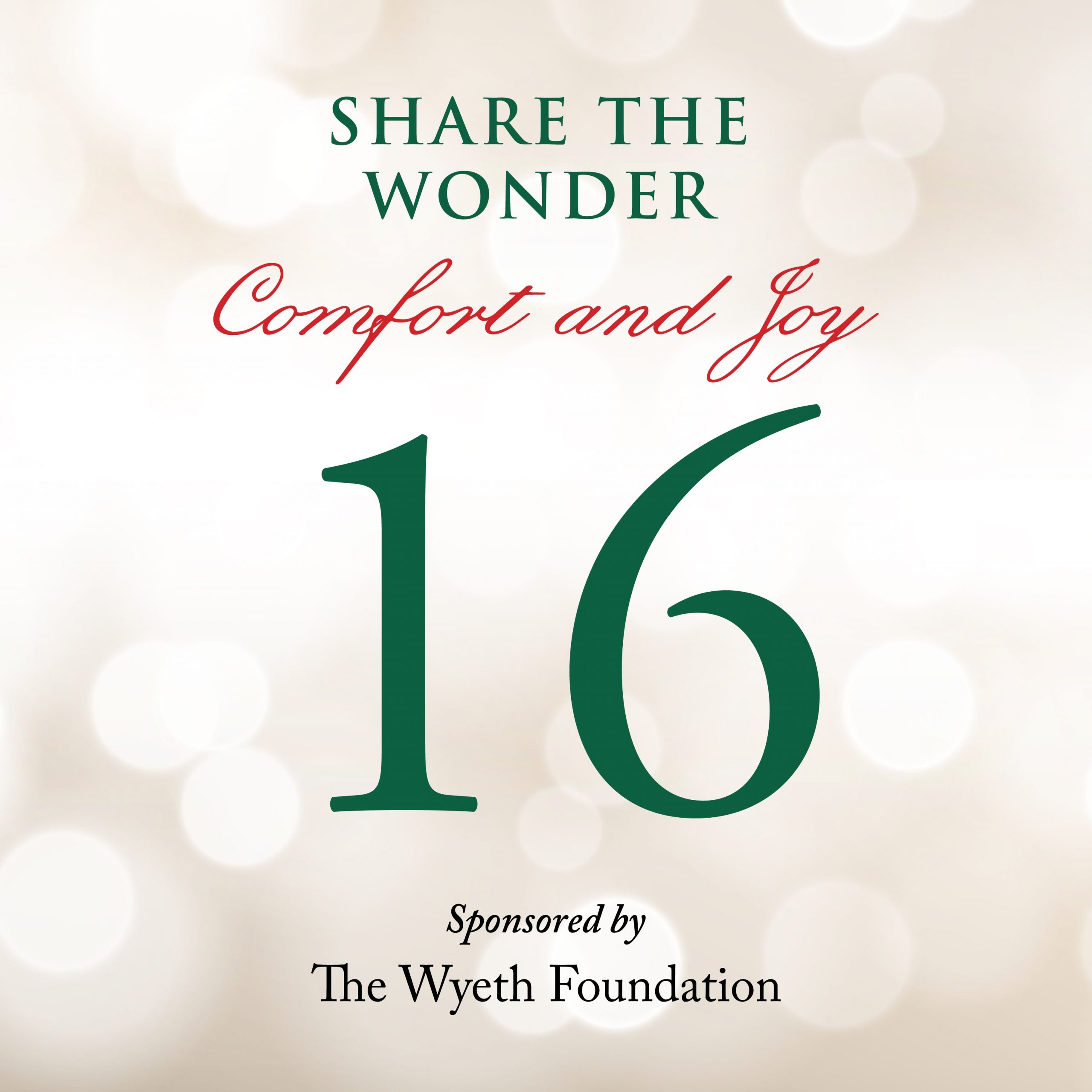 Day 16 of Share the Wonder: December 13