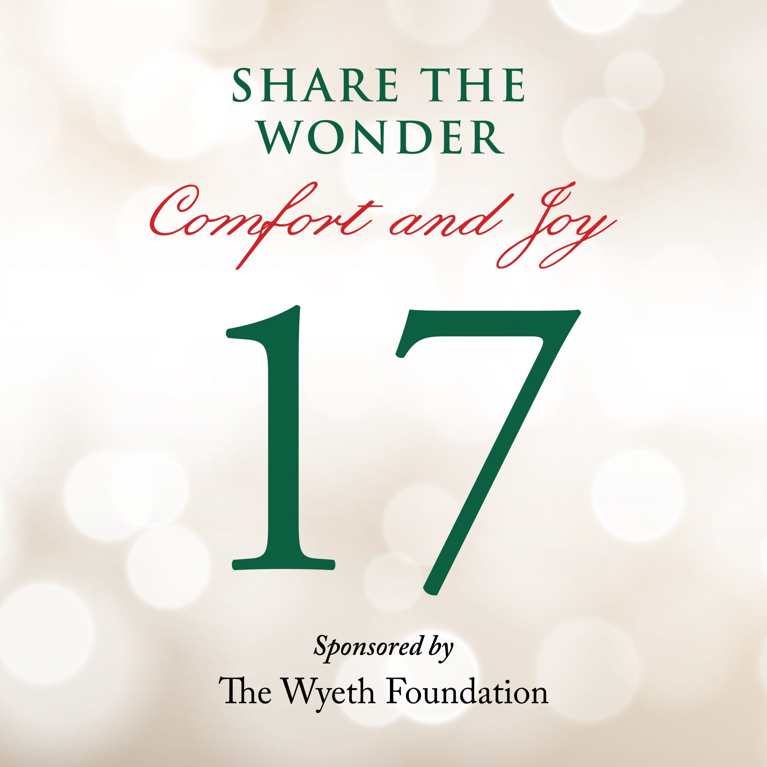 Day 17 of Share the Wonder: December 14