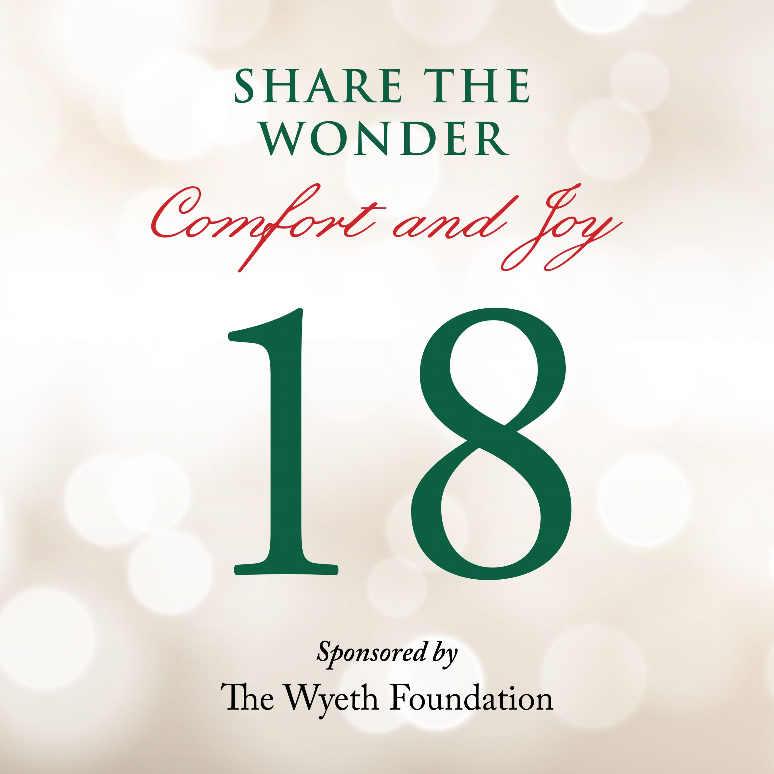 Day 18 of Share the Wonder: December 15