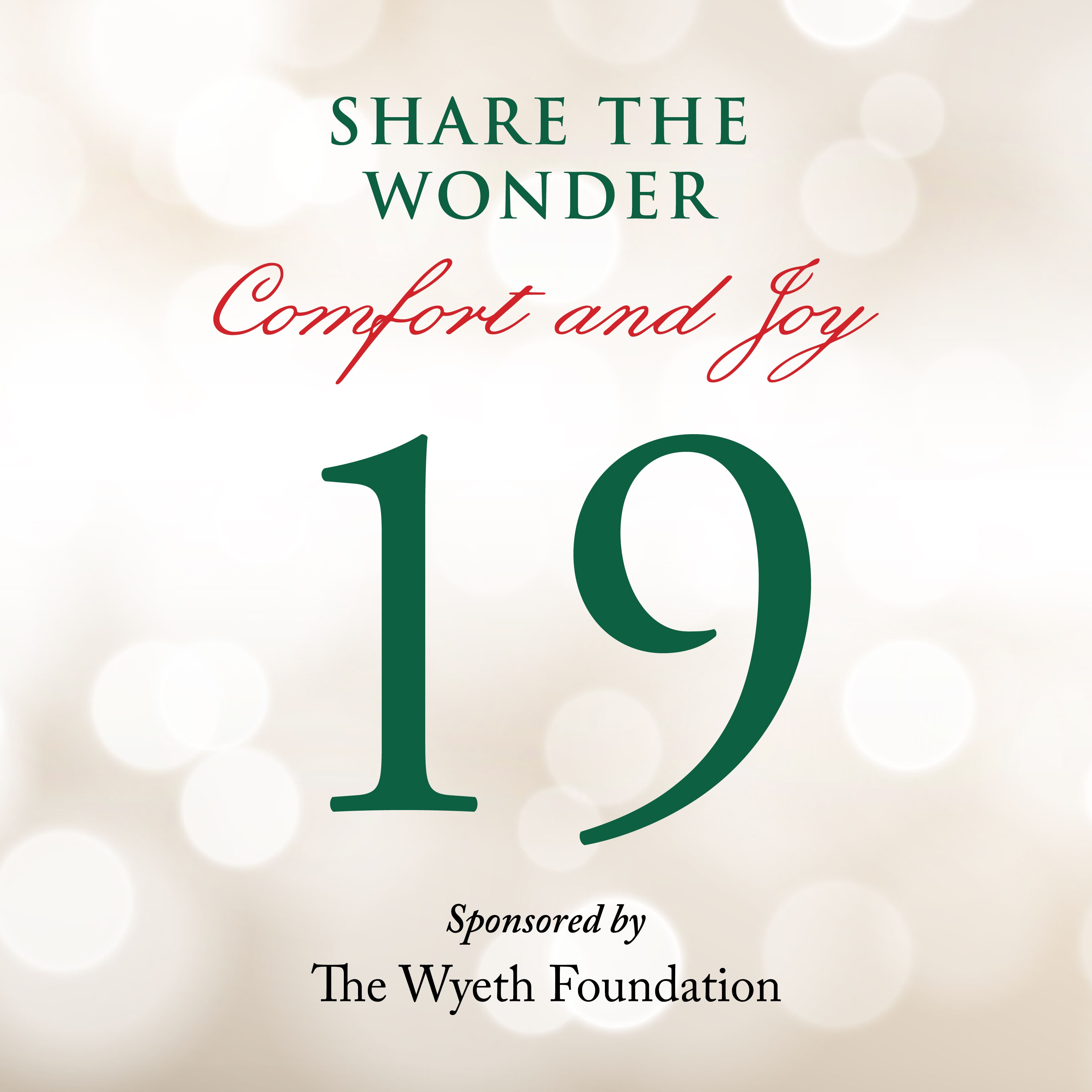 Day 19 of Share the Wonder: December 16