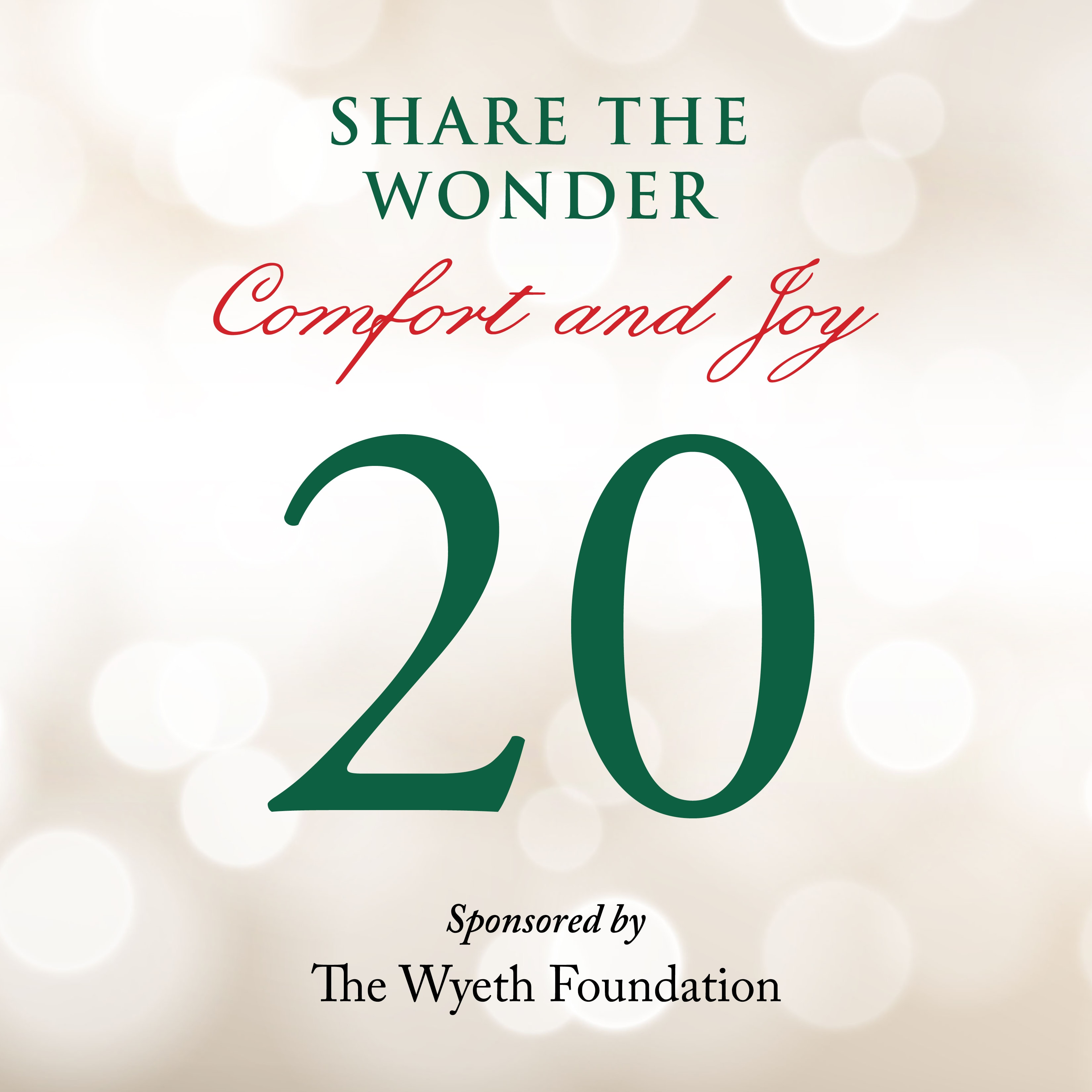 Day 20 of Share the Wonder: December 17