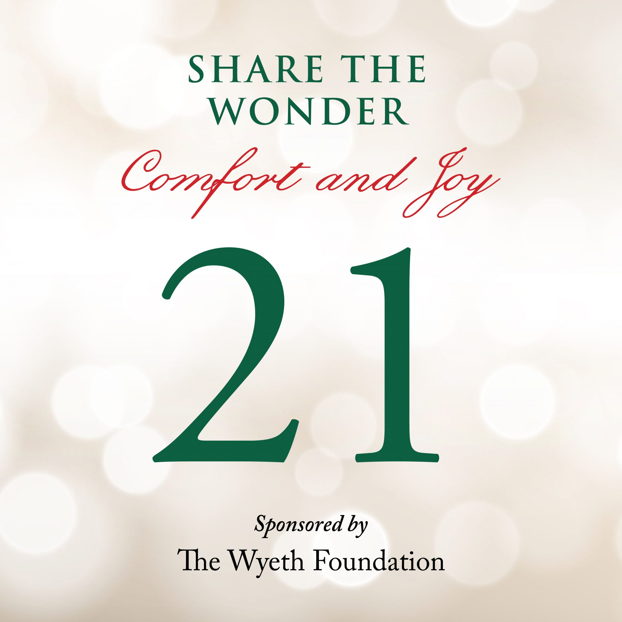 Day 21 of Share the Wonder: December 18