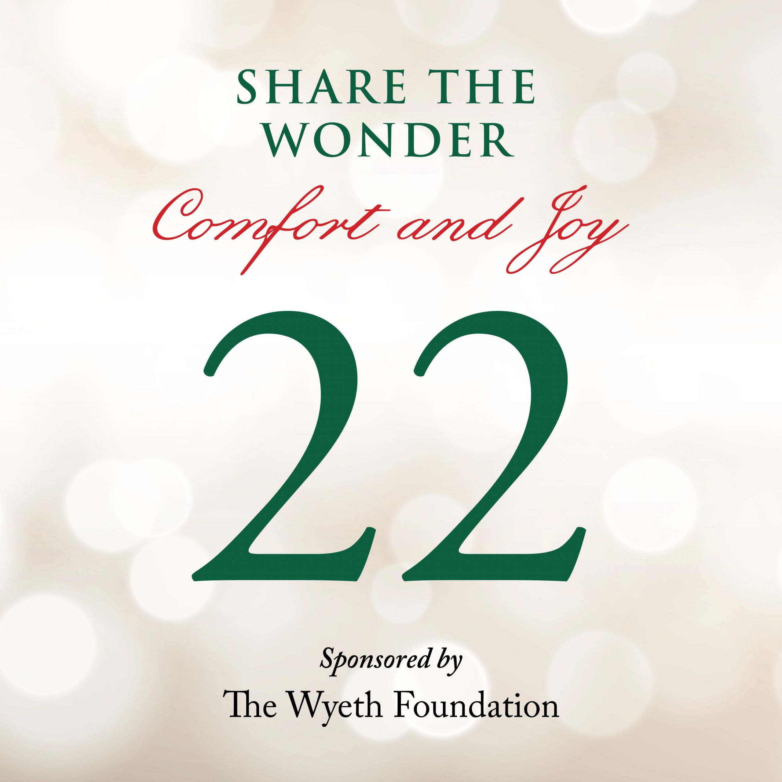 Day 22 of Share the Wonder: December 19