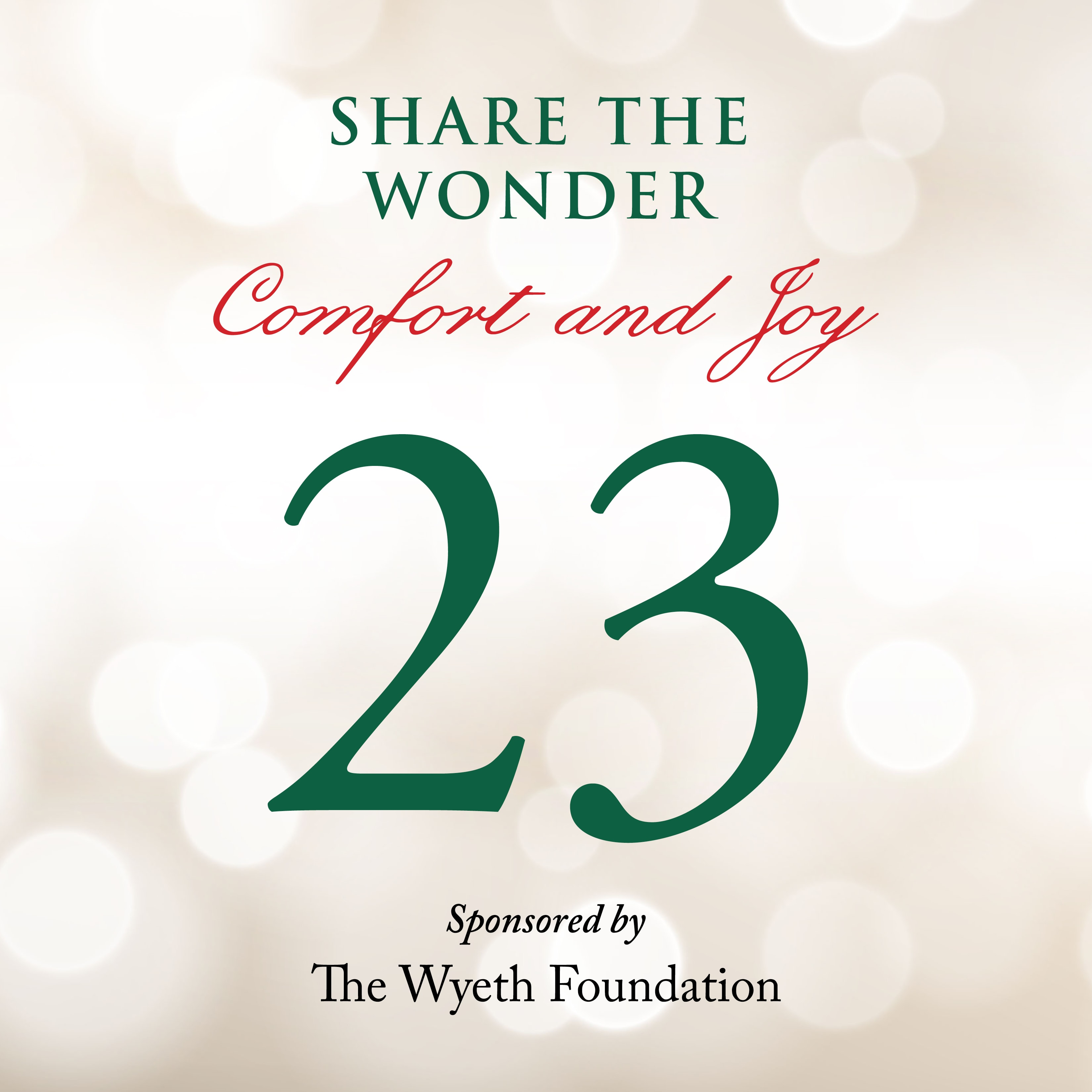 Day 23 of Share the Wonder: December 20