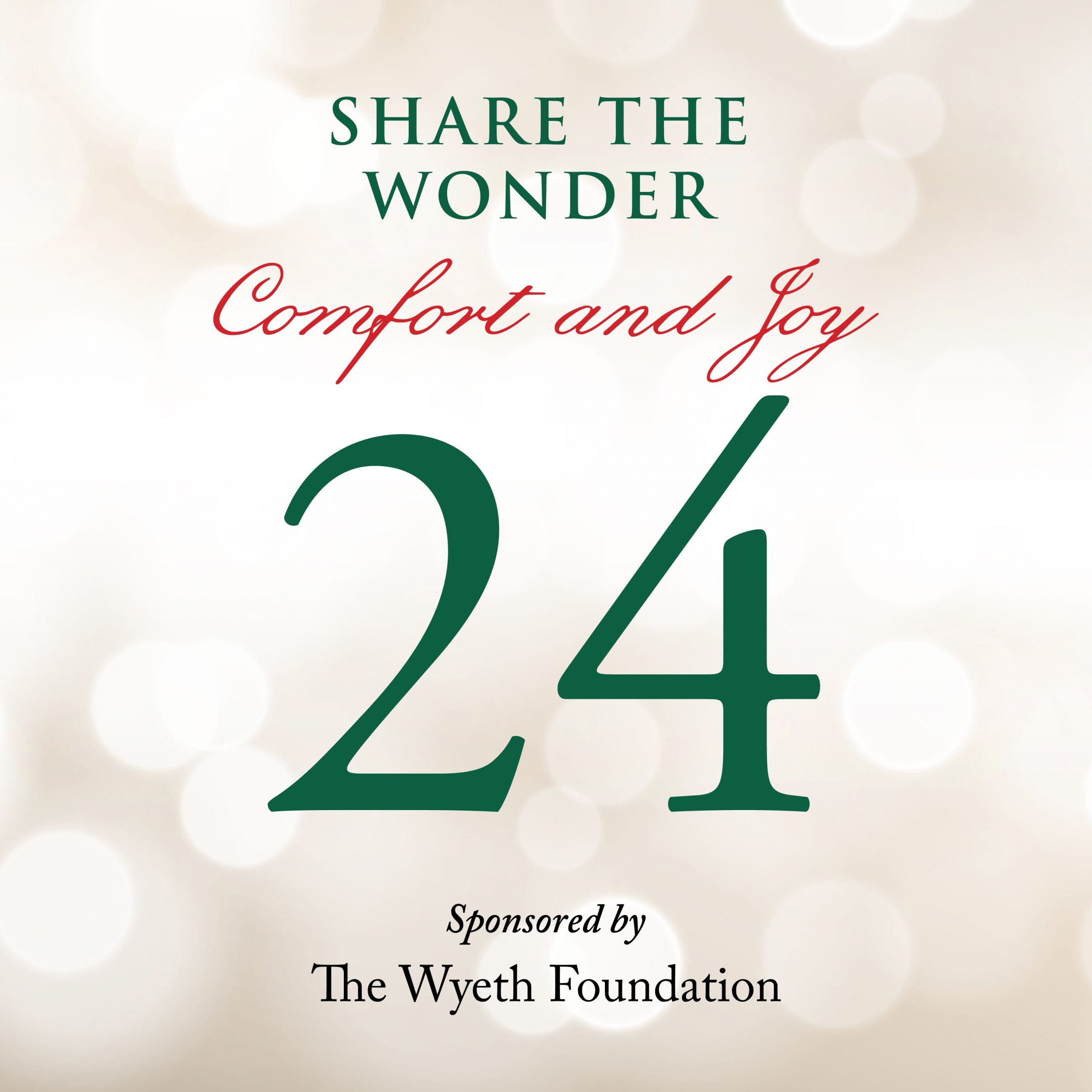 Day 24 of Share the Wonder: December 21
