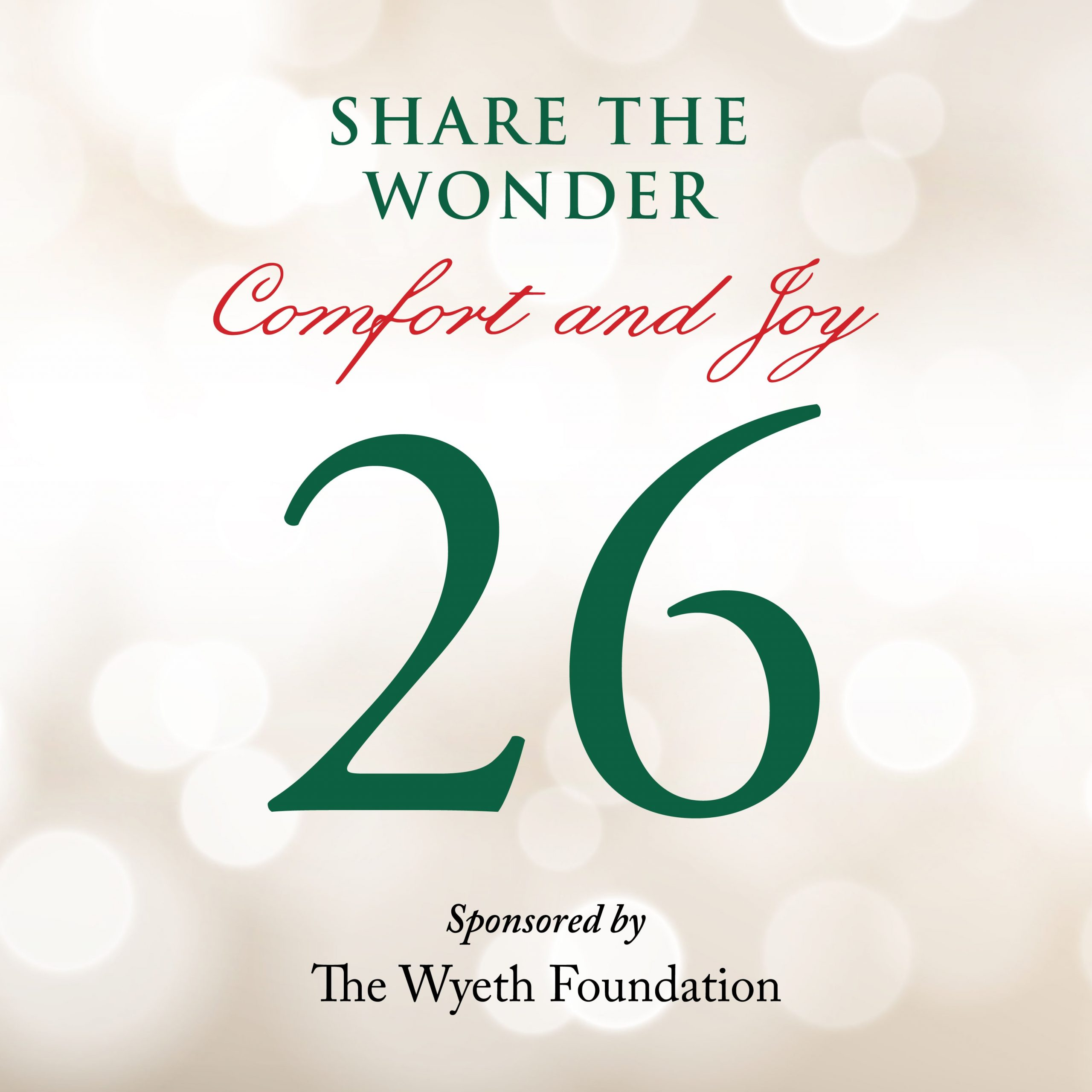Day 26 of Share the Wonder: December 23