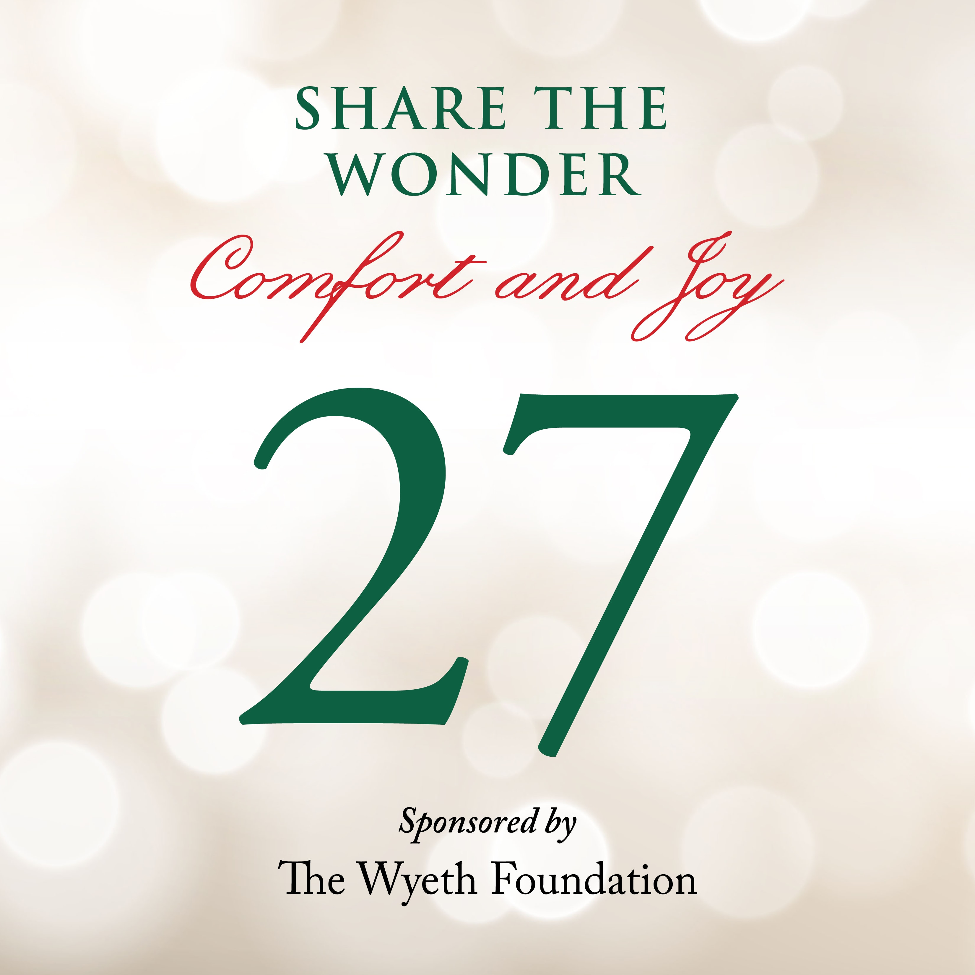 Day 27 of Share the Wonder: December 24