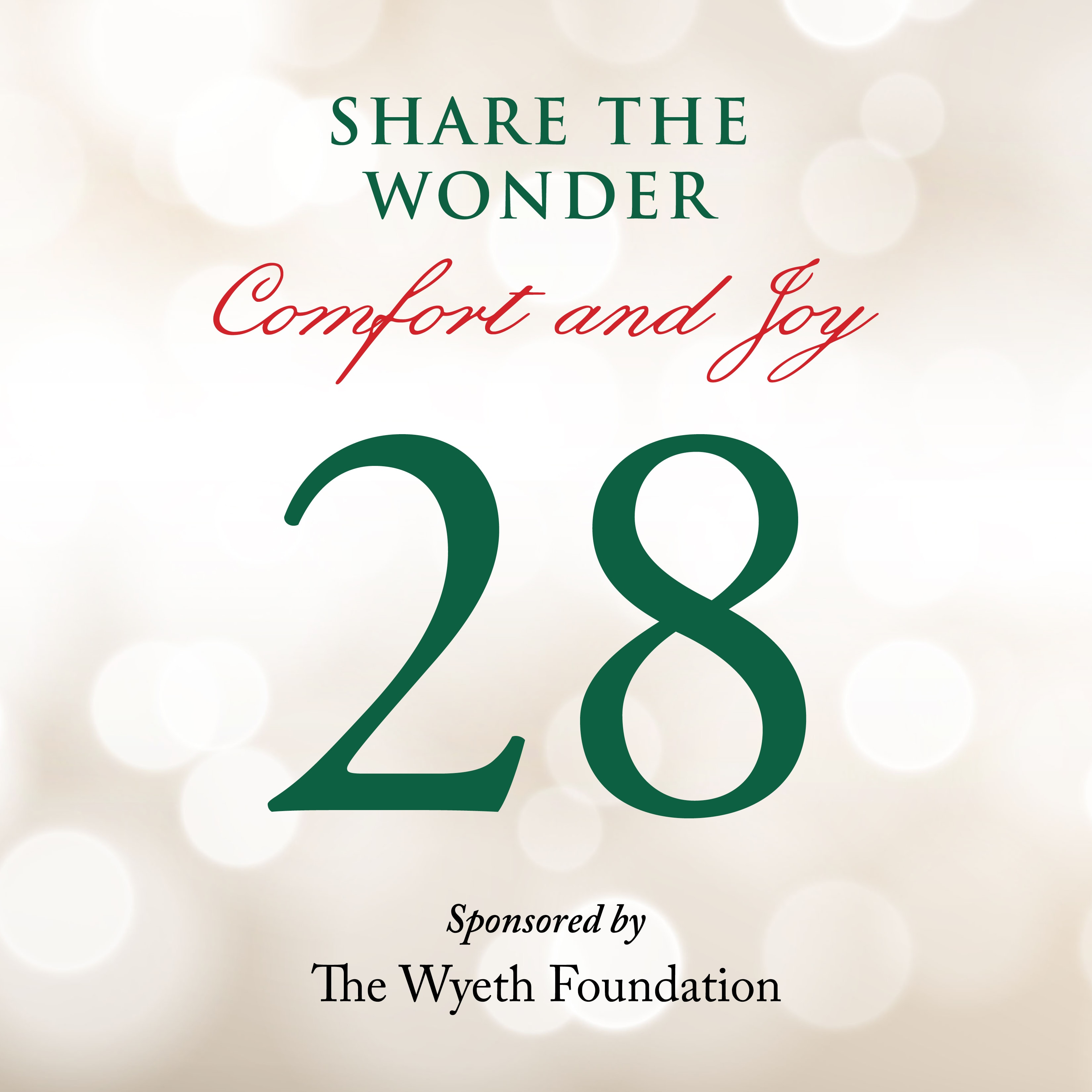 Day 28 of Share the Wonder: December 25