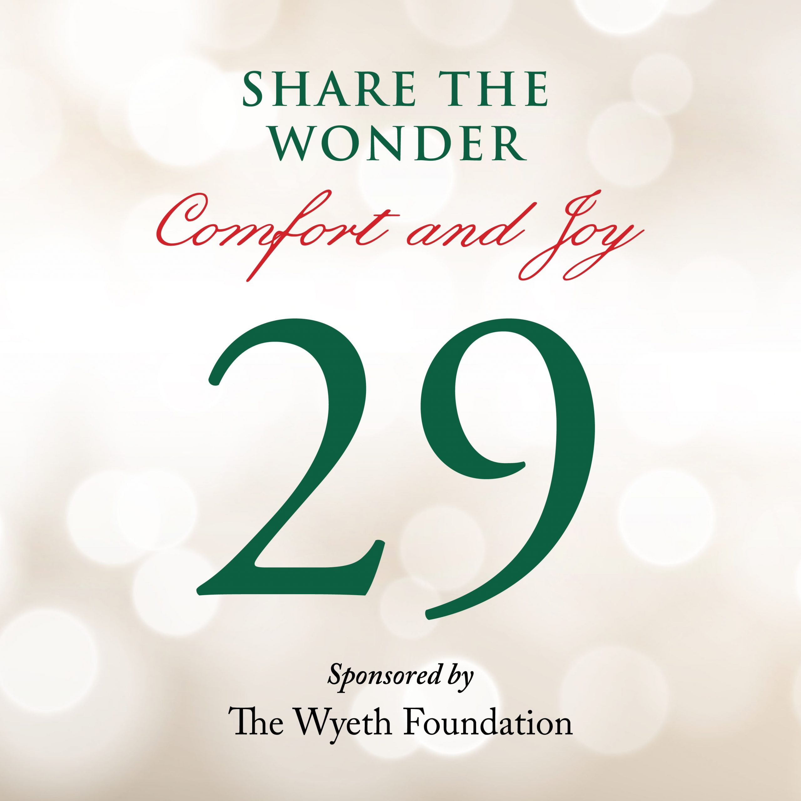 Day 29 of Share the Wonder: December 26