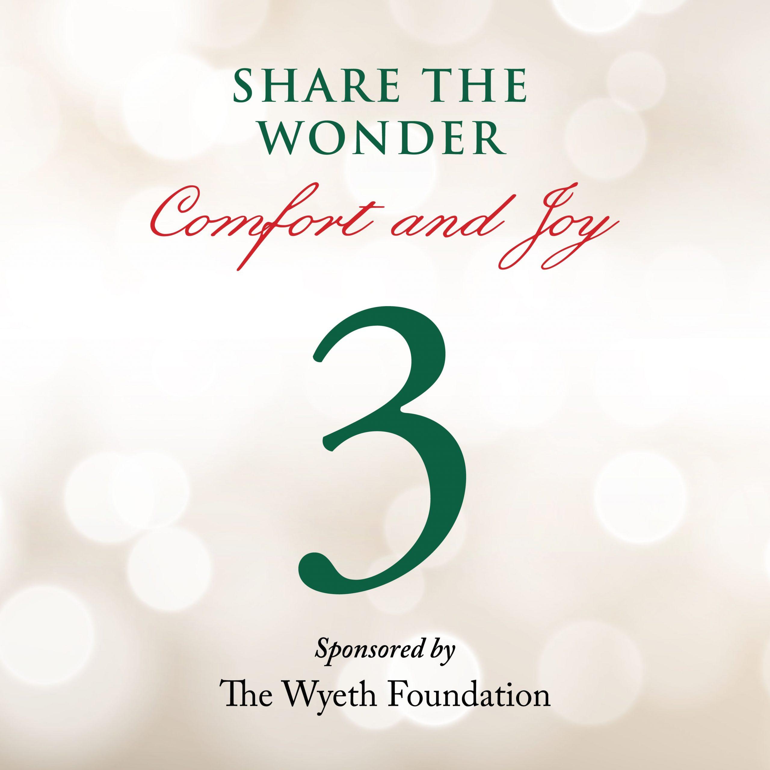 Day 3 of Share the Wonder: November 30