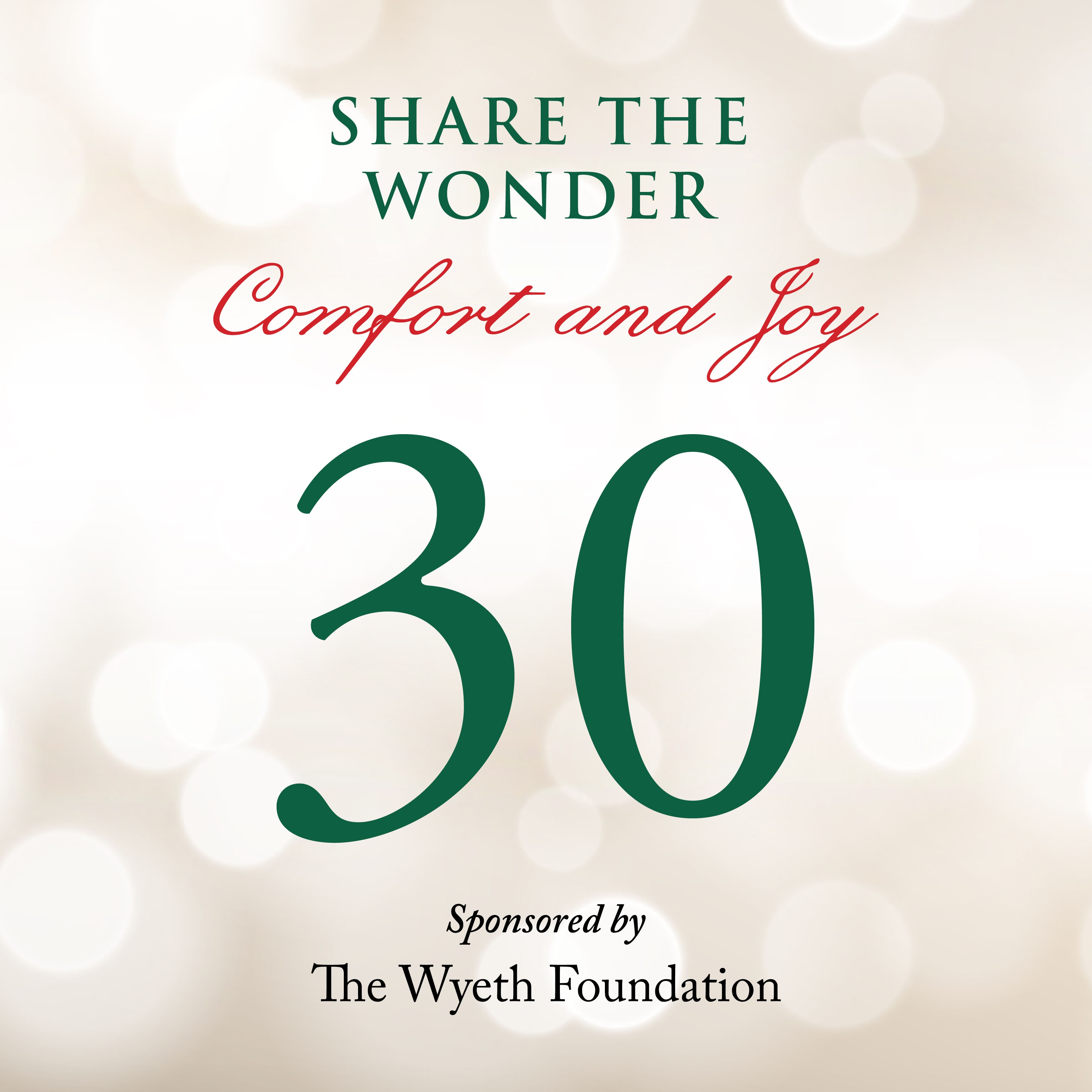Day 30 of Share the Wonder: December 27