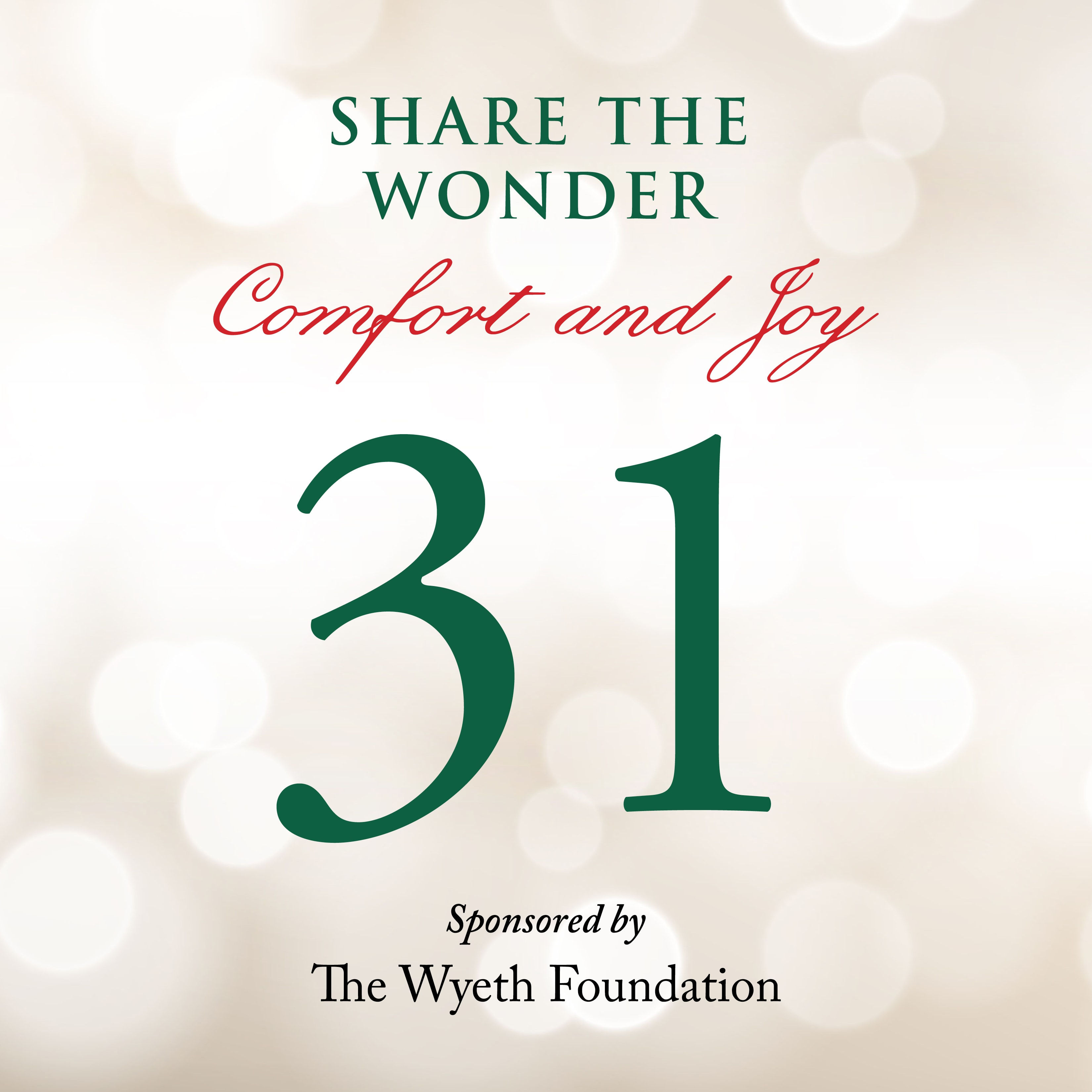 Day 31 of Share the Wonder: December 28