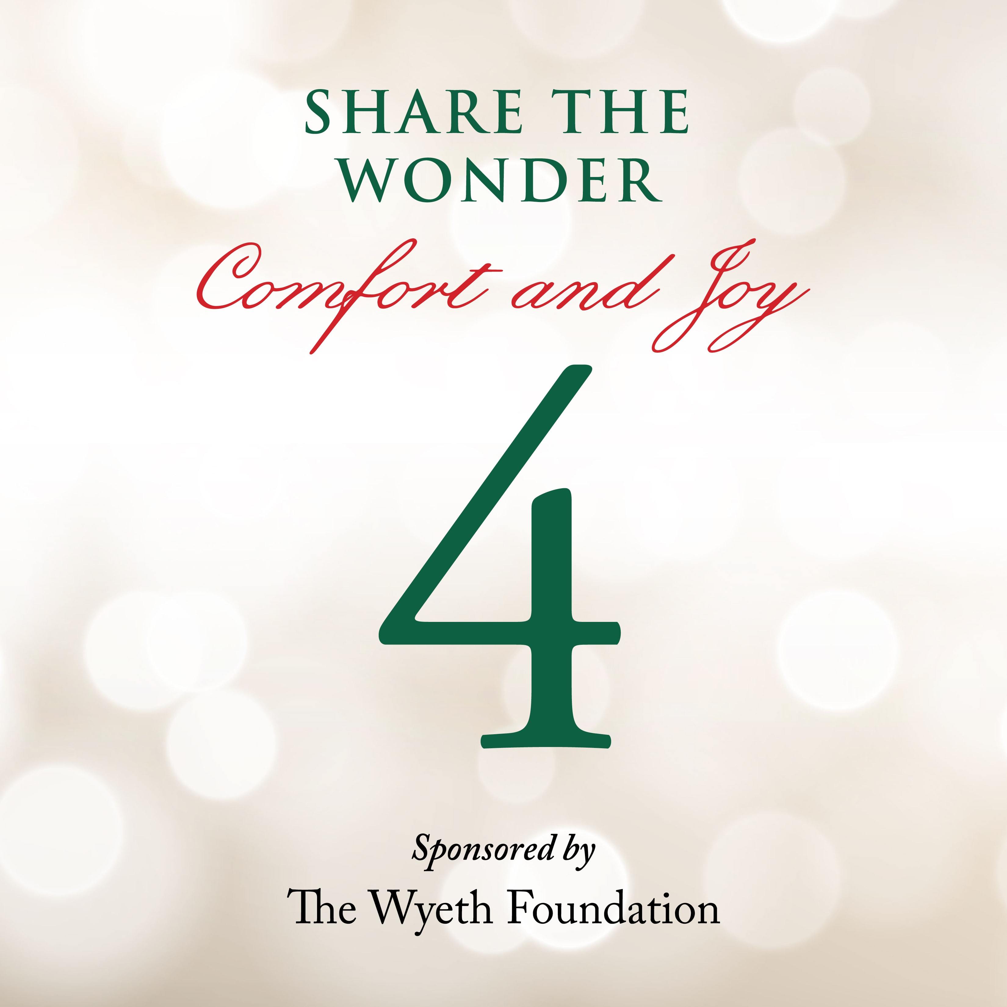 Day 4 of Share the Wonder: December 1