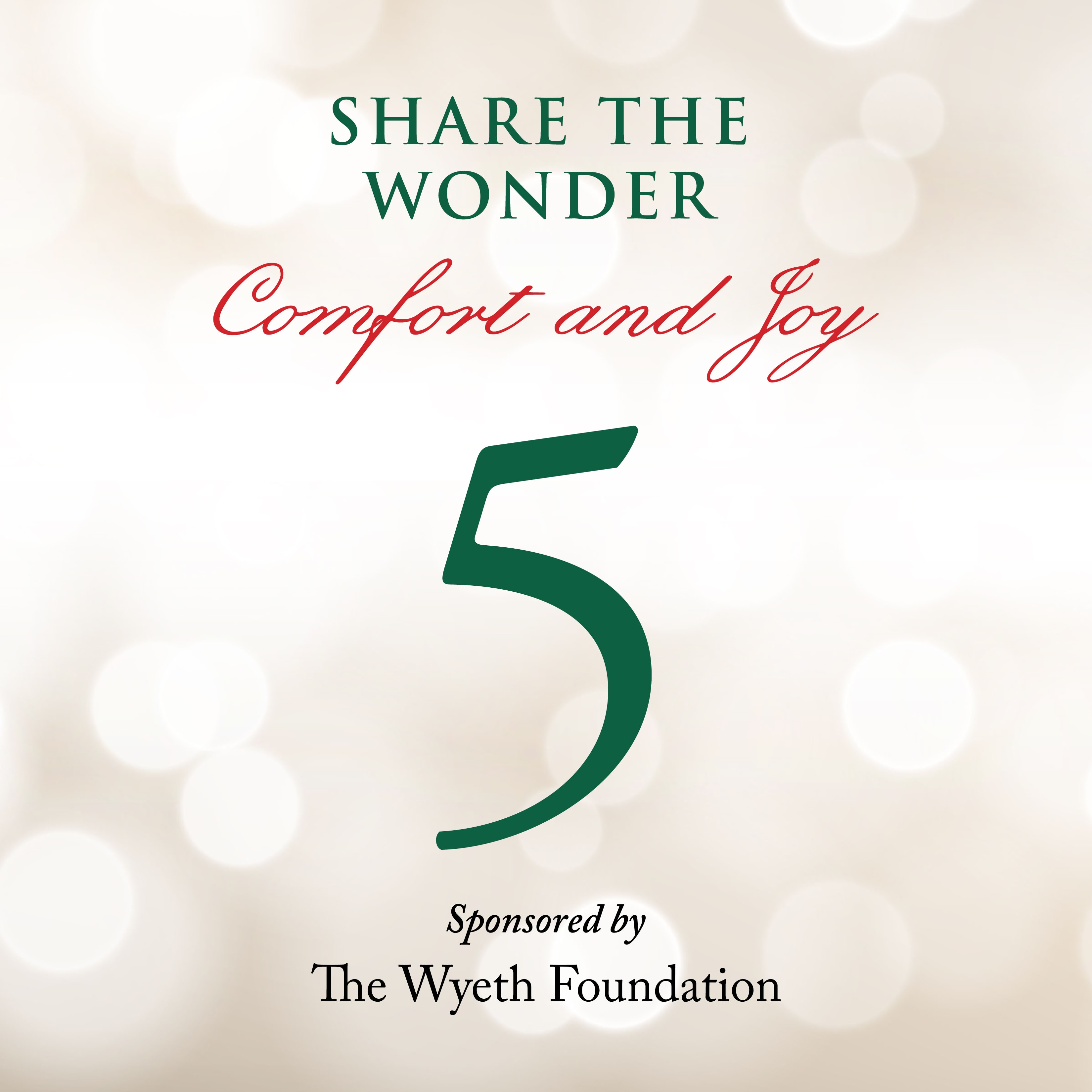 Day 5 of Share the Wonder: December 2