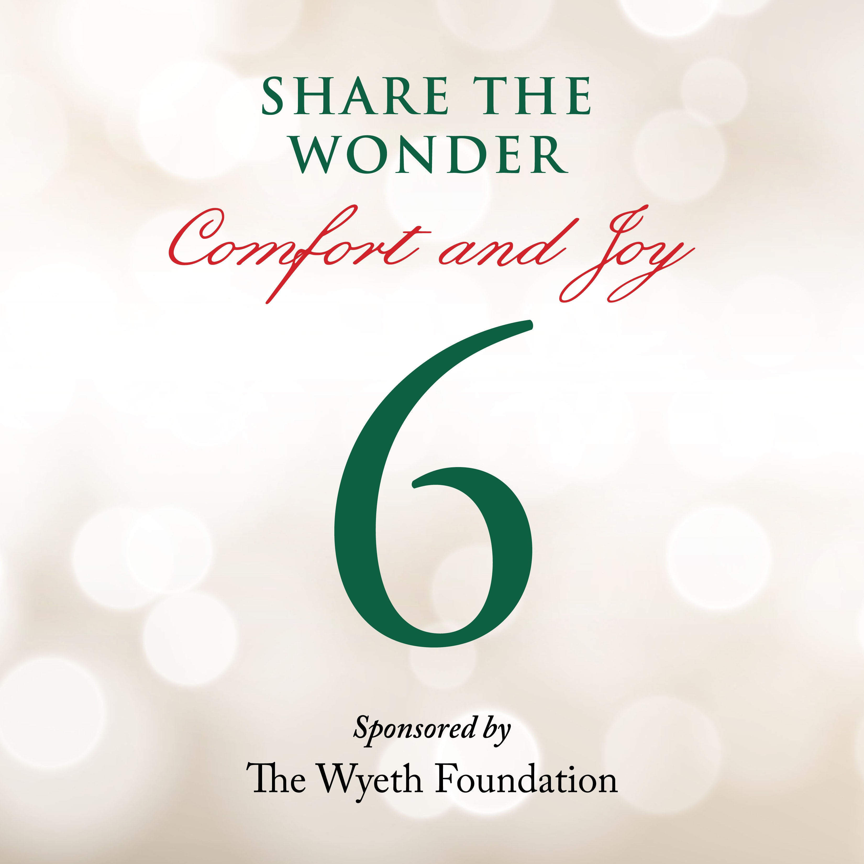 Day 6 of Share the Wonder: December 3