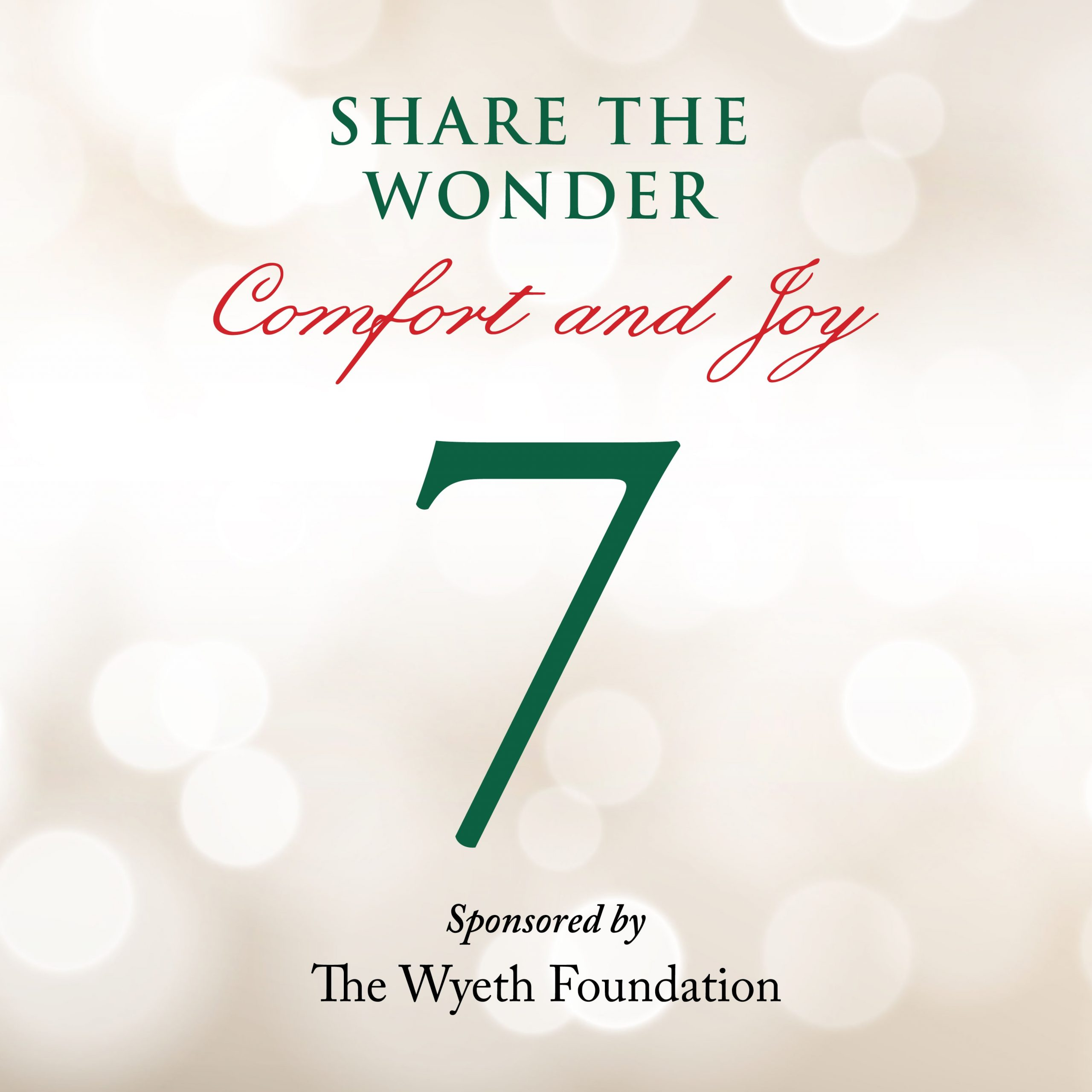 Day 7 of Share the Wonder: December 4