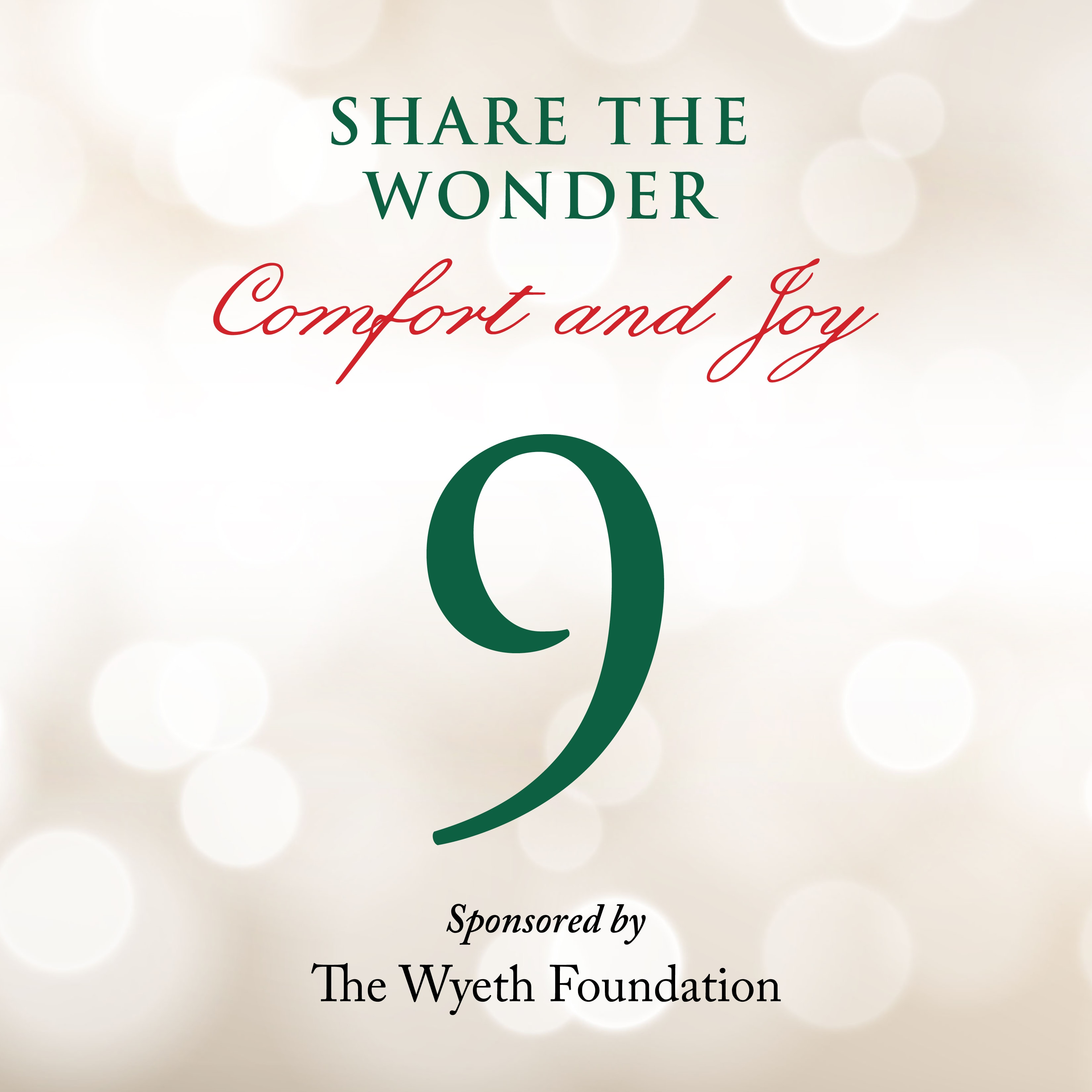 Day 9 of Share the Wonder: December 6