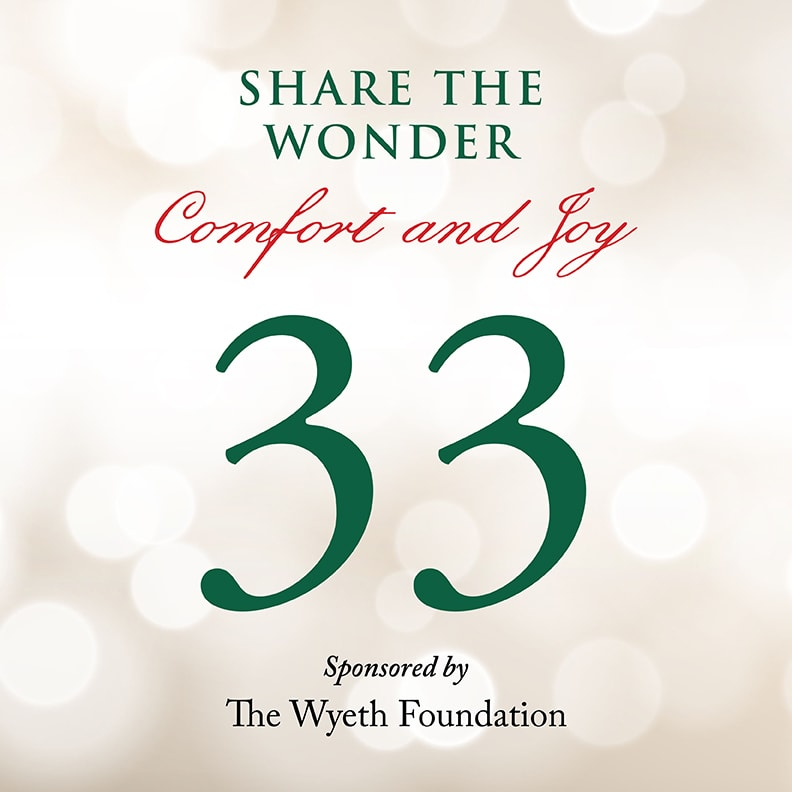 Day 33 of Share the Wonder: December 30