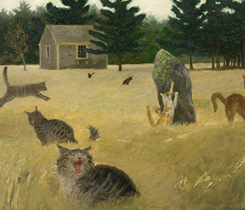 Jamie Wyeth, Maine Coon Cat, 1998, Oil on canvas, Collection of the Farnsworth Art Museum, Gift from a private collection, 2003.5