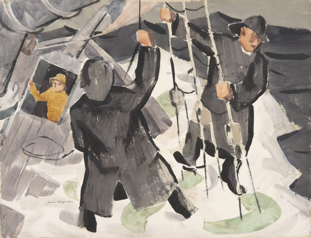 James Fitzgerald, Bendin' the Fors'l, Collection of the Farnsworth Art Museum