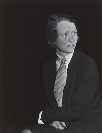 Berenice Abbot, Edna St. Vincent Millay, 1930, Collection of the Farnsworth Art Museum
