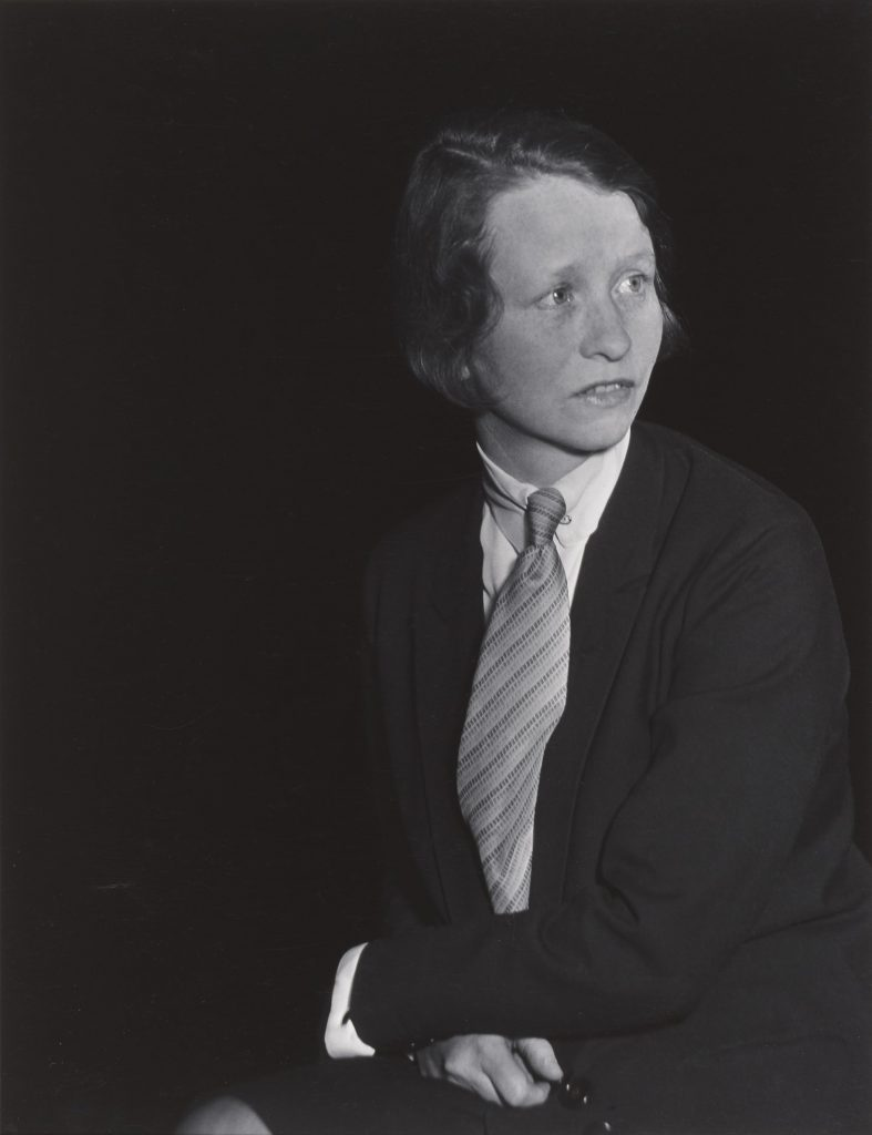 Berenice Abbot, Edna St. Vincent Millay, 1930, Gelatin Silver print (DRY MOUNT) , Collection of the Farnsworth Art Museum, Gift of Mr. Ronald A. Kurtz, 1986.27.1